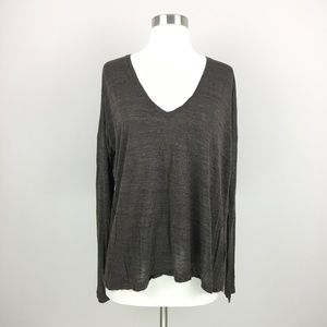 Madewell Heathered Brown Oversized Knit Top